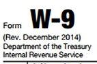 Taxpayer ID W-9 IRS