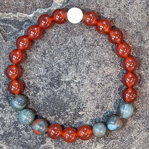 Bracelet: Carnelian & Bloodstone
