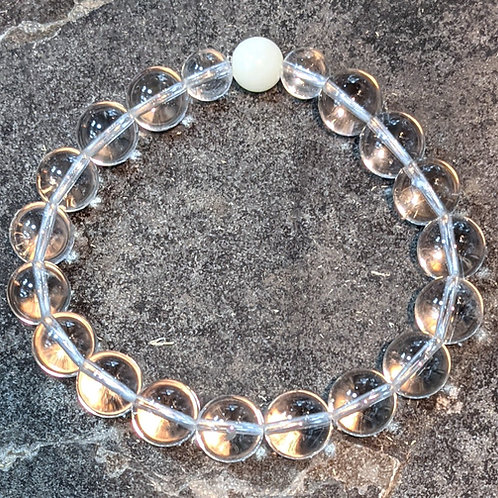 Bracelet: 10mm Clear Quartz Rounds