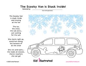 KI - Scooby Van Stuck - Coloring Sheet.p