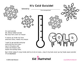 It's Cold Outside PDF Coloring Sheet (1)