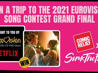Win tickets to Eurovision 2021 with Comic Relief, Sink The Pink and Netflix!
