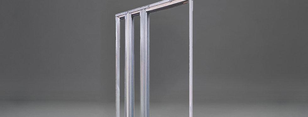Trockenbau-Schiebetürkasten für einflügelige Tür