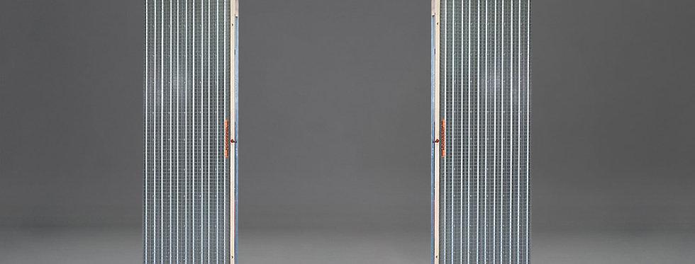 Mauerwerk-Schiebetürkasten für zweiflügelige Tür