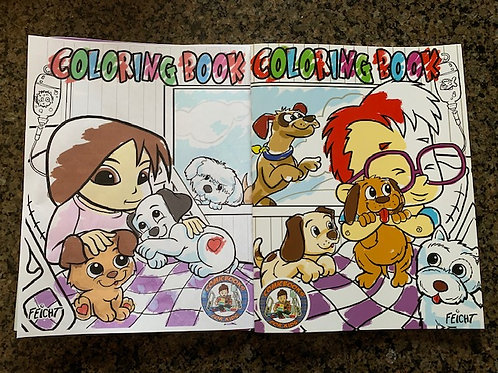 Connecting Volume 1 and 2 coloring books