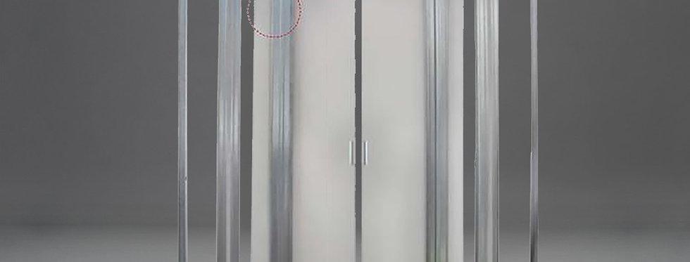 Trockenbau-Schiebetürkasten für zweiflügelige Tür