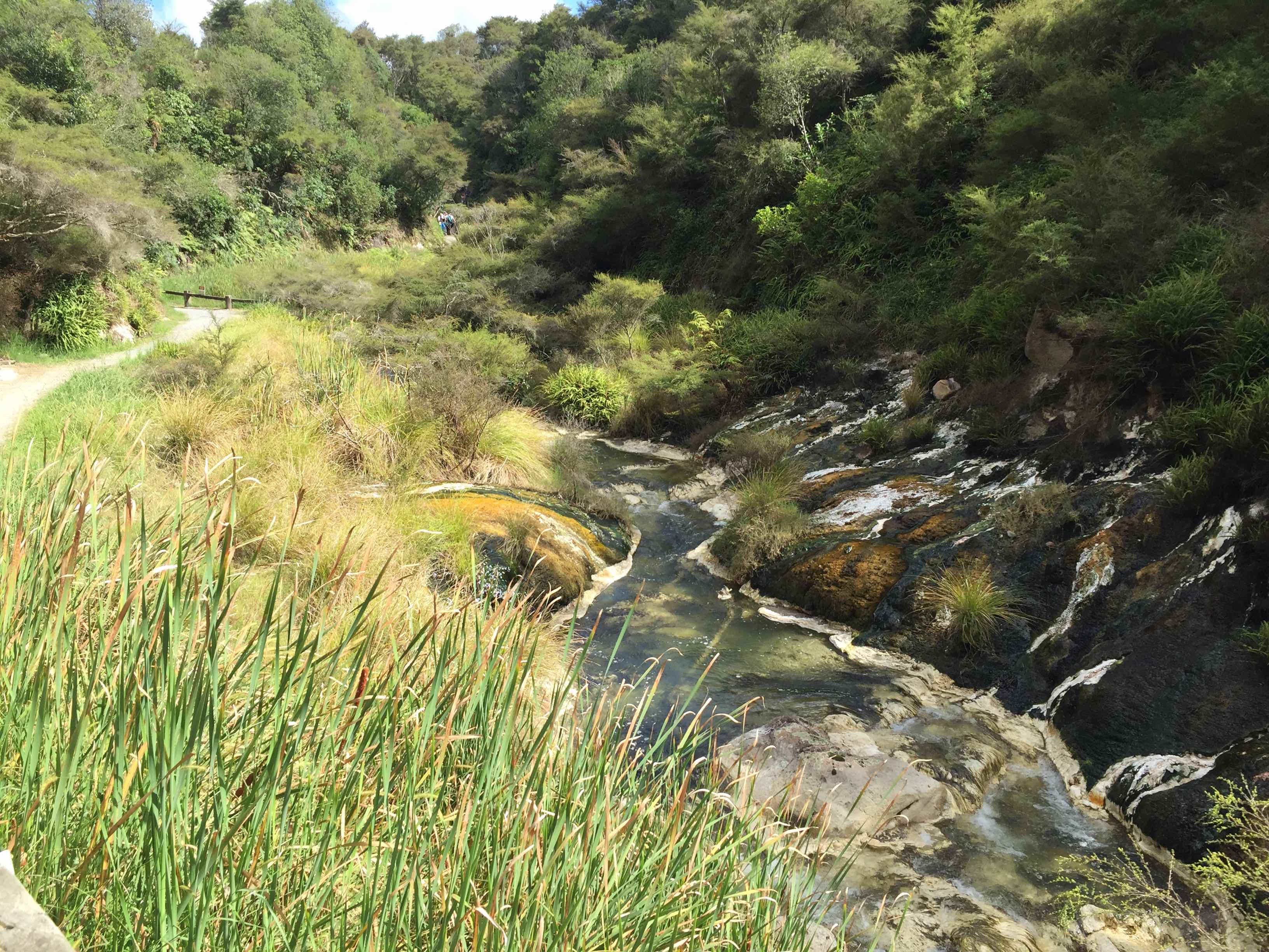 幻想的な色の川の流れ