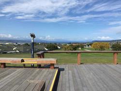 タウポ湖を見渡す展望台