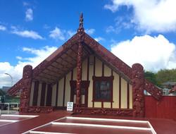 マオリ文化の象徴マラエ(集会所)