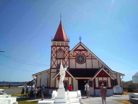 マオリ文化とキリスト教が融合した教会があるオヒネムツマオリビレッジ