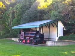 機関車の展示