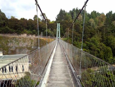約100年前に作られたNZ北島最長の吊り橋を渡ってみた