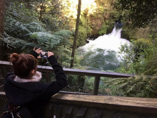 ラフティングで有名な滝