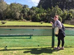 パッと見は池?と思う様な温泉