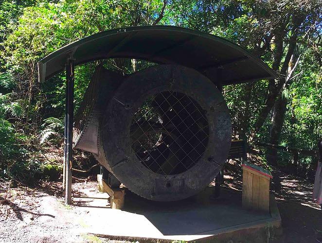かつて使われていた発電用タービン
