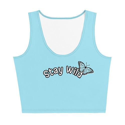 Stay Wild Crop Top (Blue)