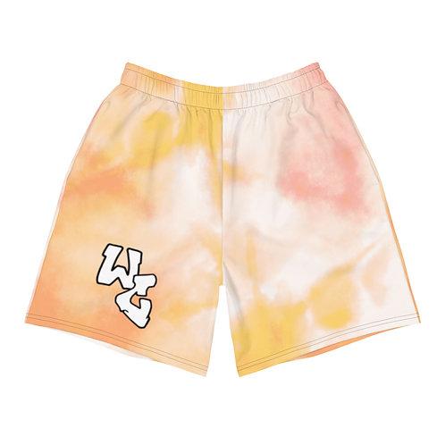 Orange Tie Dye Shorts