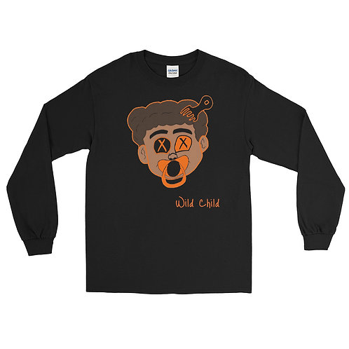 Orange Baby Face Long Sleeve Shirt