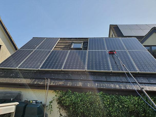 Solar panel cleaning Somerset Taunton Devon Exeter