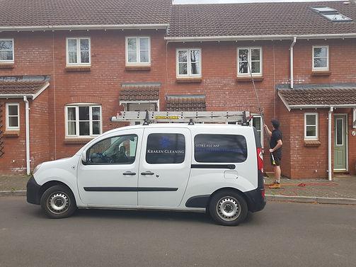 Window cleaning van. Somerset Devon Taunton Exeter