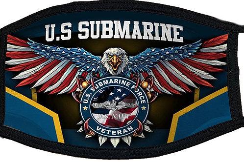 US Submarine Veteran Black Mask 2096