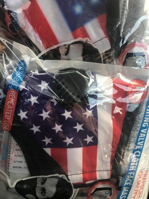 12 PCS $3.50 Each Flag  double Filter  Face Mask(Dozen) SKU 1510