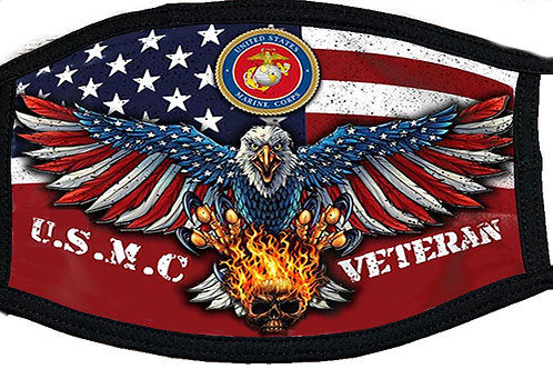 USMC Veteran Black Mask 2062