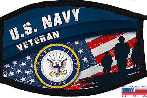 US Navy Veteran Black Mask 2134