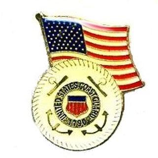 Coast Guard seal/ Flag SKU 1104