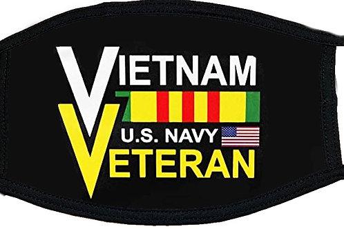 Navy Vietnam Veteran Black Mask 2163