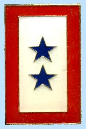 2 Blue star service flag SKU 1033