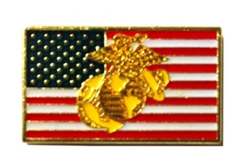 US Flag w/Marines crest SKU 1102