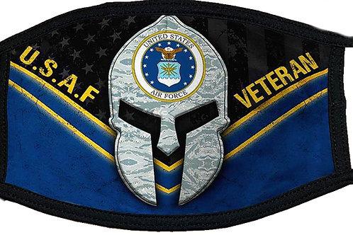 US Air Force Veteran Black Mask 2100