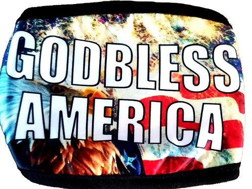 12 PCS ONLY $2.00 Each God Bless America  Mask(Dozen) SKU 1511