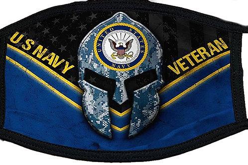 US Navy Veteran Black Mask 2099
