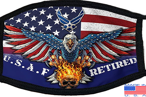 Air Force Retired Black Mask 2078