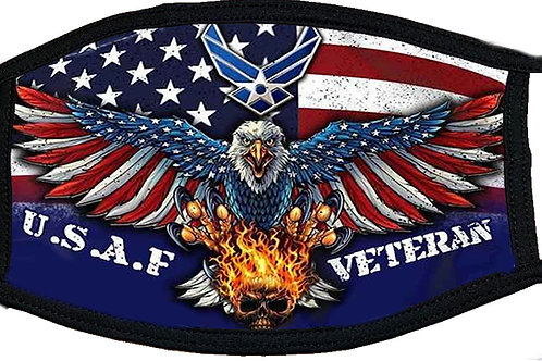 US Air Force Veteran Black Mask 2105