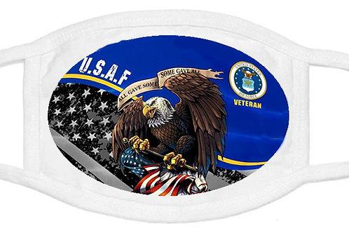 U.S.A.F Veteran Mask SKU 1530