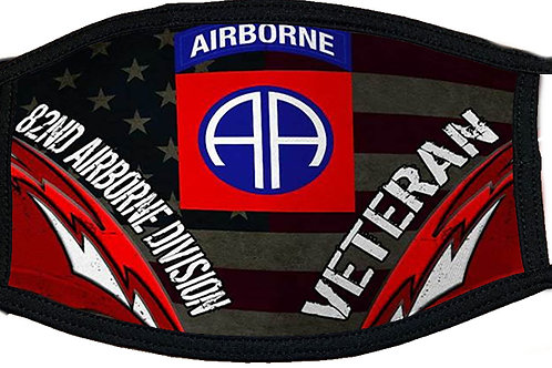 82nd Airborne Veteran Black Mask 2090