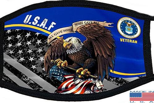 USAF Veteran Black Mask 2141