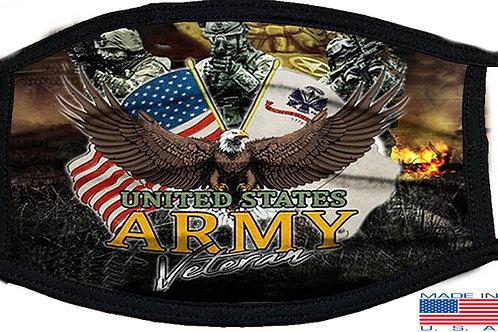 US Army Veteran Black Mask 2143