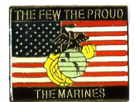The Few, The Proud, The Marines/ US Flag SKU 1115