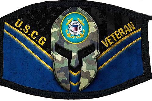 US Coast Guard Veteran Black Mask 2101