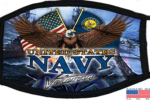 US Navy Veteran Black Mask 2142
