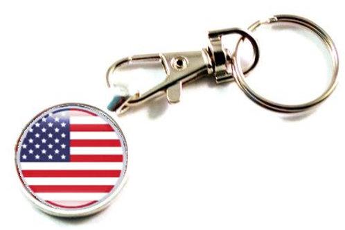 Keychain Flag Double Sided $1.25 Each(Dozen)SKU 2053