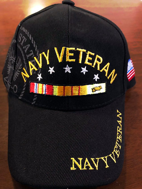 12 US Navy Vet Hats SKU 422 Only $2.75 Each