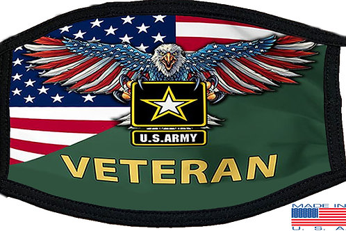 US Army Veteran Black Mask 2068