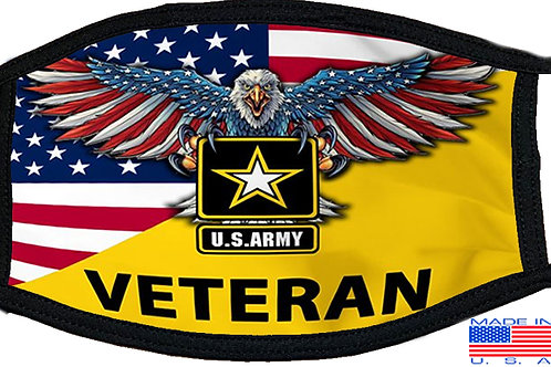 US Army Veteran Black Mask 2083
