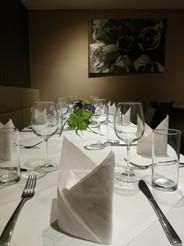 Tischdekoration für eine Privatveranstaltung