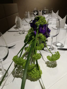 Table decoration for a private event